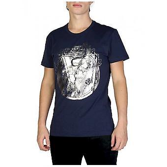 فيرساتشي جينز - ملابس - تي شيرت - B3GSB76S_36610_238 - رجال - بحري - L