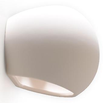 Sollux 1 ljus keramisk infälld vägg ljus vit SL. 0032