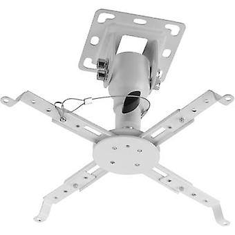 My Wall H16-7WL Projector ceiling mount Tiltable, Rotatable Max. distance to floor/ceiling: 17 cm White