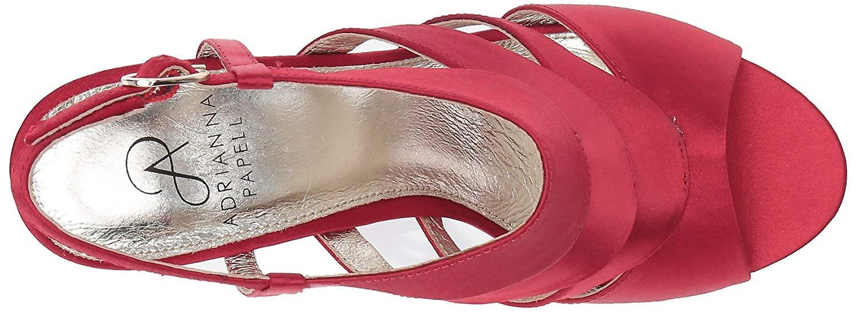 Adrianna Papell Women's Marlene Heeled Sandal red Satin 5.5 Medium US