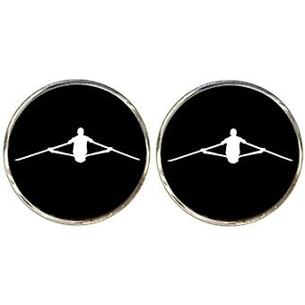 Bassin and Brown Rower Cufflinks - Black/White