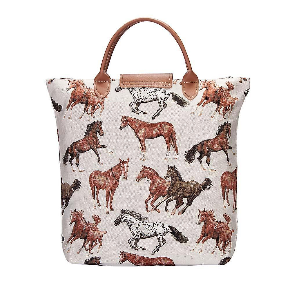 Running horse foldaway shopping bag by signare tapestry / fdaw-rhor