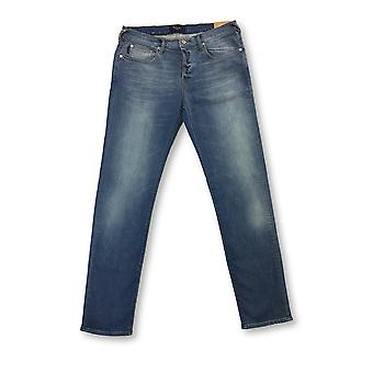 Paul Smith Jeans tapered denim distressed jeans in light blue