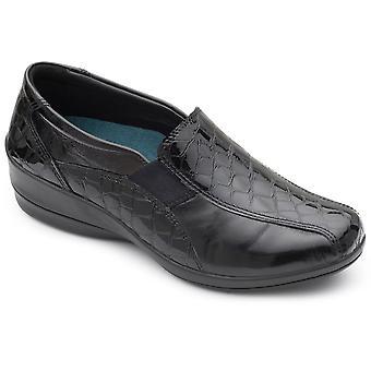 Padders Skye Womens Leather Wedge Shoe
