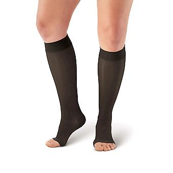 Pebble UK Toeless Sheer Support Knee Highs [Style P41] Beige  XL