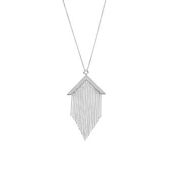 925 Sterling Silver Rhodium Plated Adjustable Fancy Tassel Necklace 18 Inch Jewelry Gifts for Women