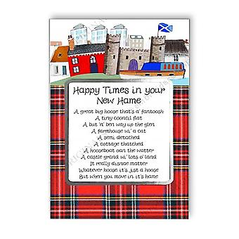 Embroidered Originals Happy Times New Home Card