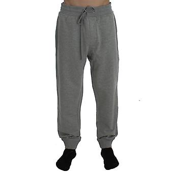 Aeronautica Militare Gray Cotton Stretch Pants