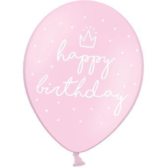 Ilmapallot Vaaleanvaaleanpunainen | Babypink Hyvää syntymäpäivää (30 cm) 6 kpl