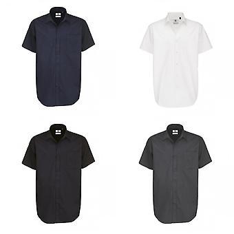 B&C Mens Sharp Twill Short Sleeve Shirt / Mens Shirts