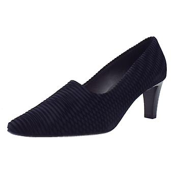 Peter Kaiser Mova Classic Mid Heel Court Shoes In Navy Nico