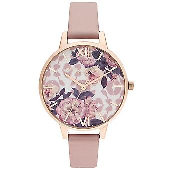 Olivia Burton Watches Ob16lp03 Wild Flower Vegan Rose et Pale Rose Gold Ladies Watch