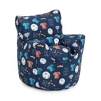 Ready Steady Bed Champion Lasten Taapero nojatuoli | Mukava lasten huonekalut | Pehmeä lasten turvaistuin leikkihuone sohva | Ergonomisesti suunniteltu bean laukku tuoli