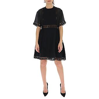 See By Chloé Chs20ujr23082001 Women's Black Cotton Dress