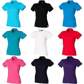 Henbury Womens/dames Stretch Pique Polo Shirt