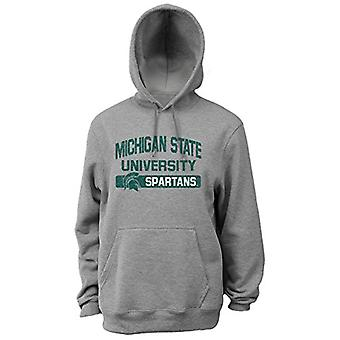 NCAA Michigan State Spartans Men's Pro Weight College Logo, white, Size Small