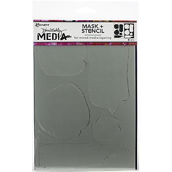دينا واكلي وسائل الإعلام Stencils 9 & ونقلت عن X6 & - الأشكال غير المتكافئة