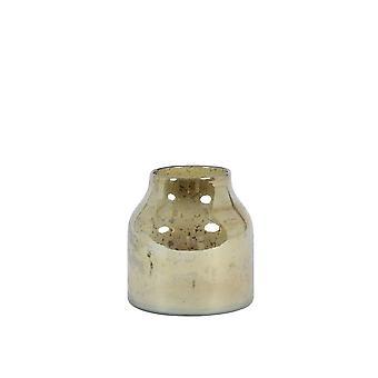 Ljus och levande vas 14x15cm Sonala Glas Sten Finish Amber