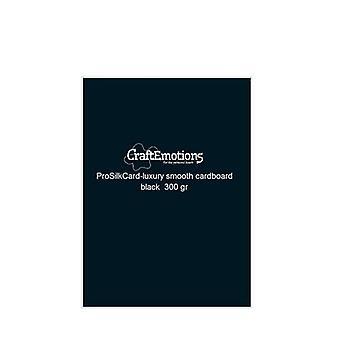 CraftEmotions ProSilkCard-luxury smooth cardboard black 50sh A4 - 300 gr