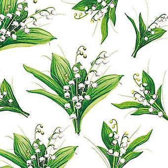 CraftEmotions napkins 5pcs - Lily 33x33cm Ambiente 13308235
