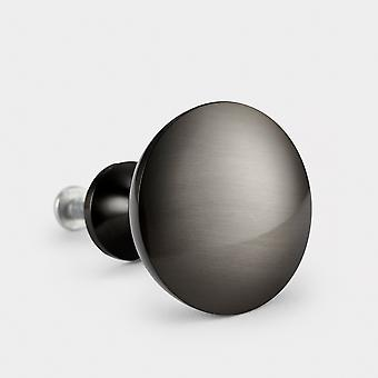 Brass Door Knob - Gunmetal Grey - Dome