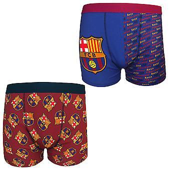 FC Barcelona Mens Boxer Shorts Crest 1 Pack OFFICIAL Football Gift