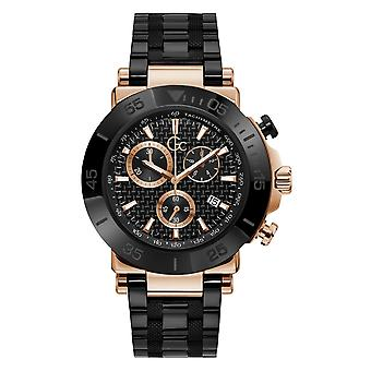 GC Y70002G2MF Men's One Chronograph Black Bracelet Wristwatch
