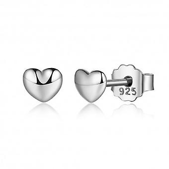 Silver Earrings Heart - 6497