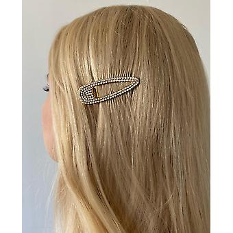 Trendy hair clip dressed with rhinestones that gleam