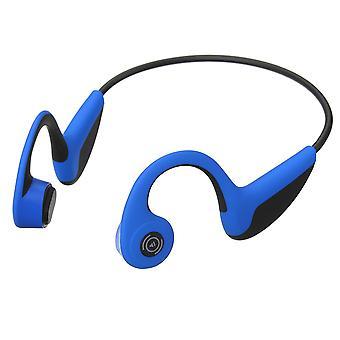 G18 bluetooth 5.0 sans fil led indicateur d'os casque de conduction usb charge imperméable à l'eau sports hifi écouteur avec micro (bleu)