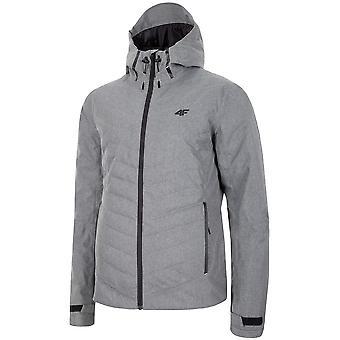 4F KUM005 H4Z19KUM005CHODNYJASNYSZARYMELAN universal winter men jackets