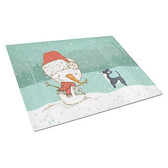 musta chihuahua lumiukko joulu lasi leikkaus lauta n