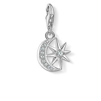 Thomas Sabo White Zirconia Star & Moon Charm