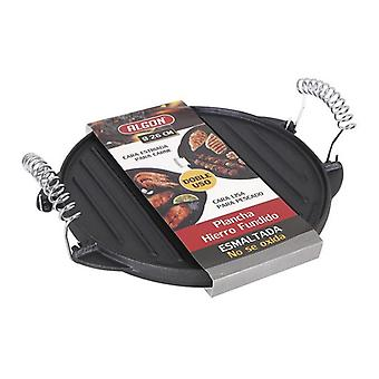 Grill kookplaat 2 In 1 Algon Cast iron Black/26 cm