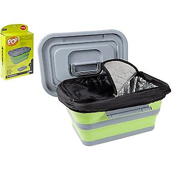 Summit Pop! 18L Folding Collapsible Cool Box Camping Food Container Cooler - Lime / Grey
