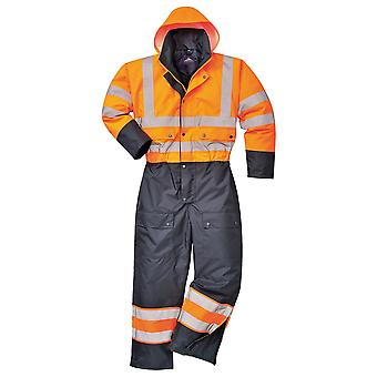 Portwest hi-vis contrast coverall - lined s485