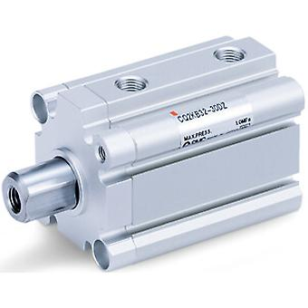 SMC Double Action Pneumatic Compact Cylinder 20Mm Bore, 20Mm Stroke