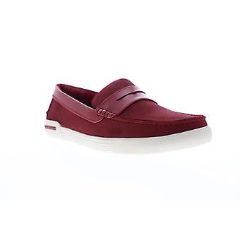 Unlisted by Kenneth Cole Un Anchor Mens Red Casual Slip On Loafers Shoes