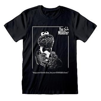 セサミストリートクッキーモンスター ゴッドファーザーメン&アポ;s Tシャツ |オフィシャル・グッズ