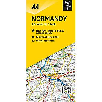 Road Map Normandy - 9780749582098 Book