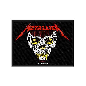 Tissé d'officiel de 10 cm x 7,5 cm nouveau Metallica Patch Koln Skull Logo groupe coudre sur