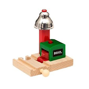 BRIO 'Magnetic Action' Bell Signal 33754 Wooden Railway Accessory