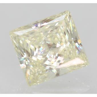 Certified 0.63 Carat J VVS2 Princess Enhanced Natural Diamond 5.14x4.85mm 2VG