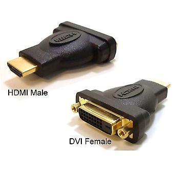 HDMI إلى محول DVI-D محول ذكر إلى أنثى