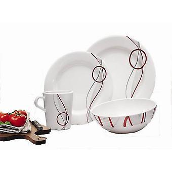REIMO Imola 16 Stück Teller und Tassen, die Ess-Set