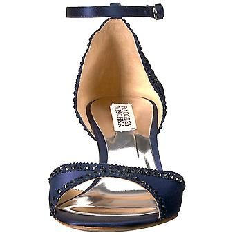 BADGLEY MISCHKA Womens Gillian Fabric Peep Toe Special Occasion Ankle Strap S...