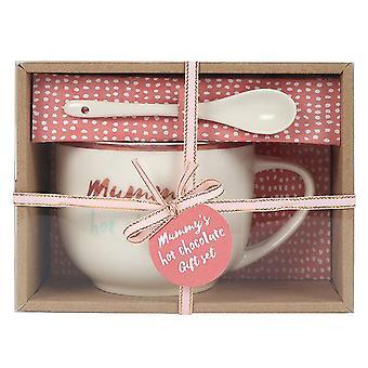 Bohemian Babe Mummy`s Hot Chocolate Mug And Spoon Set