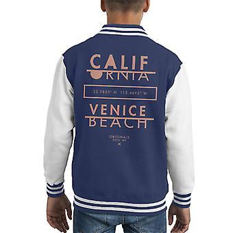 Teilen & erobern Kalifornien Koordinaten Kid's Varsity Jacke