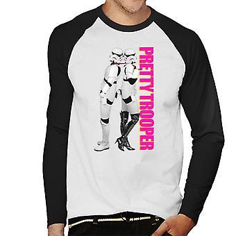 Original Stormtrooper Pretty Trooper Parody Men's Baseball Long Sleeved T-Shirt
