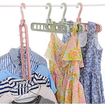 Colgador de almacenamiento de varios puertos para ropa con círculos - Estante de secado de ropa